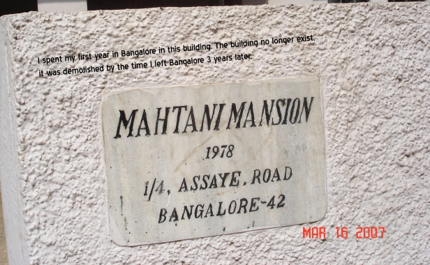 Mahtani mansion bangalore