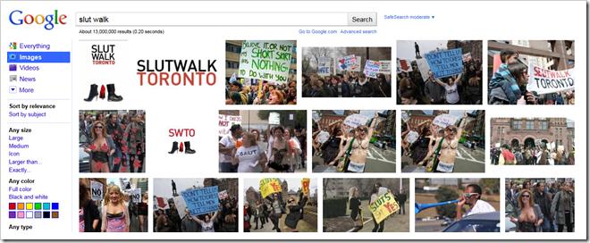 google slut walk images