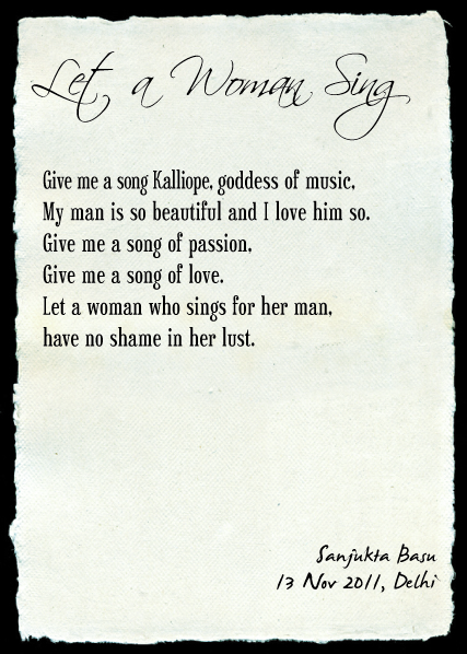 Let a woman sing