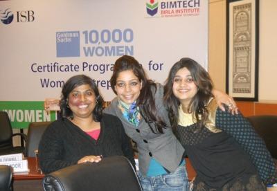 Sanjukta Basu, founder Samyukta Media at Goldman Sachs 10,000 Women certificate program at BIMTECH Greater Noida campus