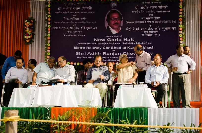 Inauguration of the New Garia Halt Station by Shri Adhir Ranjan Chowdhury