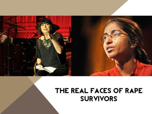 Real faces of rape survivors