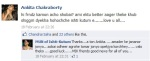 Actress Ankita Chakraborty's post on the objectionable Facebook page