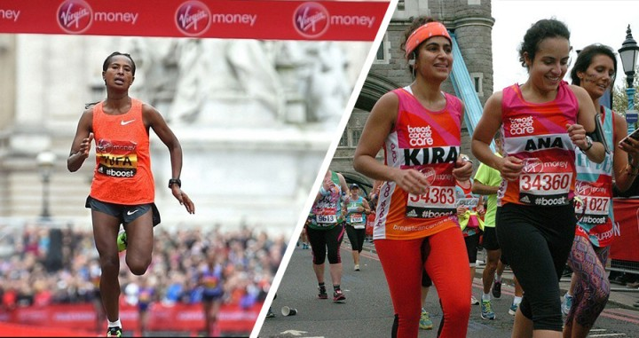 london marathon tampon girl and the winner