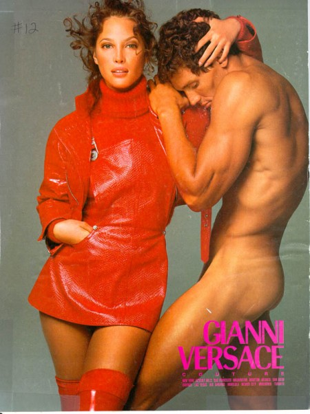 Versace--woman and naked man--various women's 90s