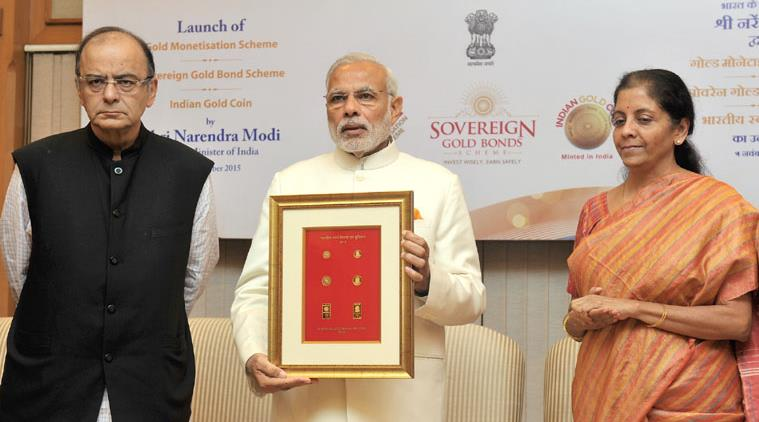 The Prime Minister, Shri Narendra Modi launches the Gold schemes, in New Delhi on November 05, 2015.