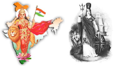Bharat Mata and Britannia - Embodiment of Nation