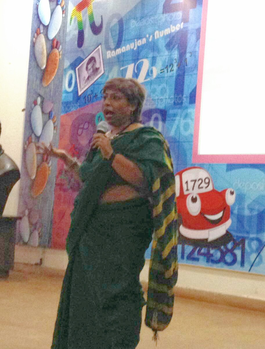Sanjukta Basu speaking at the Gender Awareness workshop at Ramanujan College, Delhi University