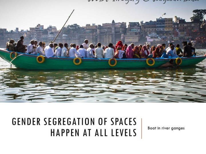 Gender segregation of spaces - gender and public space