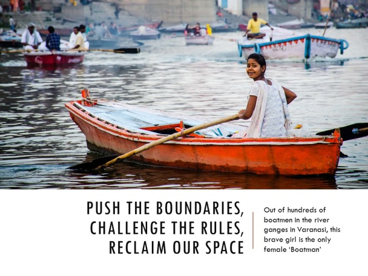 Gender segregation of space - push the boundaries, challenge the rules