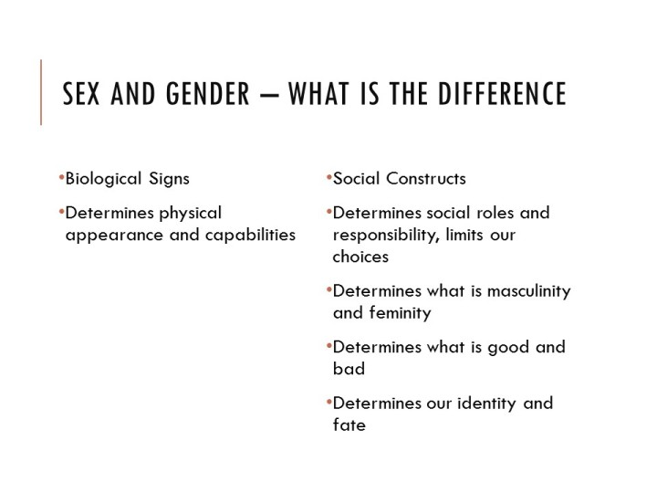 Difference between sex and gender - Gender workshop at Ramanujan college