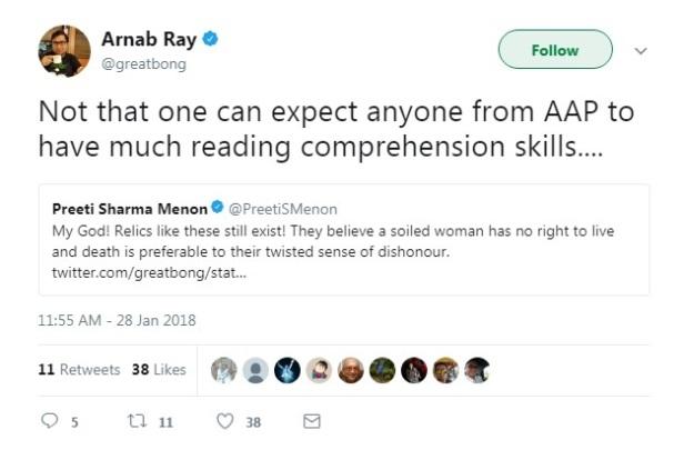 arnab ray tweet about swara bhaskar 5